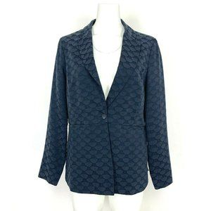 Anthropologie Seen Worn Kept Womens Blazer 10 Navy